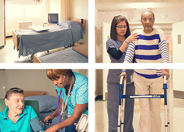Images of compassionate care being provided